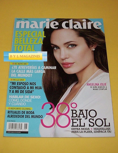 angelina jolie revista marie claire 2006