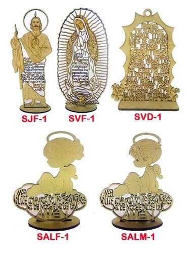 angelito de la guarda con oración mdf 15 cm recuerdo bautizo