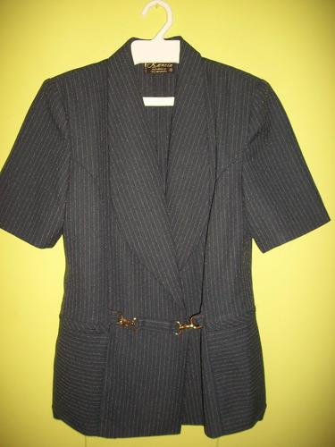 angel.vende conjunto dama chaqueta pantalon azul