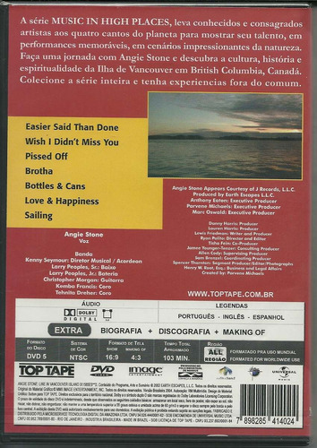 angie stone - live in vancouver island, dvd novo, lacrado