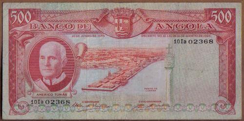 angola 500 escudos 10 jun 1970 p97