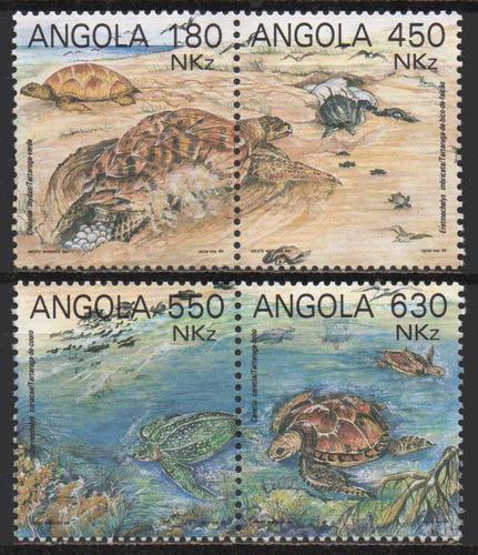 angola - tartarugas - 1993 - s/completa