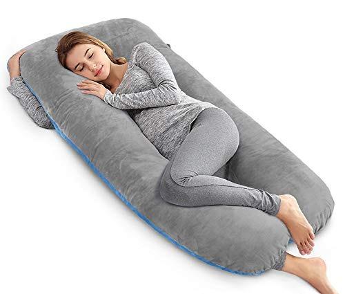 angqi almohada cuerpo de la almohada el embarazo 55in cubie