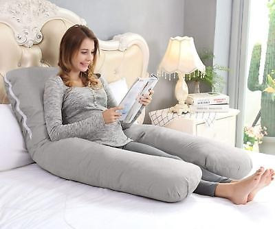 angqi almohada de embarazo de 55 pulgadas, almohada corpora