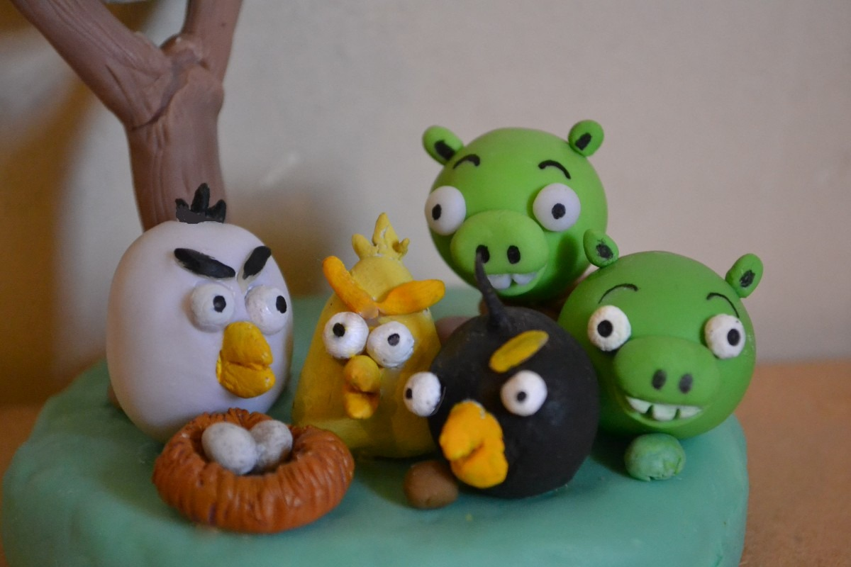 angry birds adorno de torta souvenirs cumpleaos infantiles