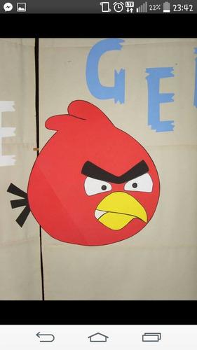 angry birds carteles centro de mesa