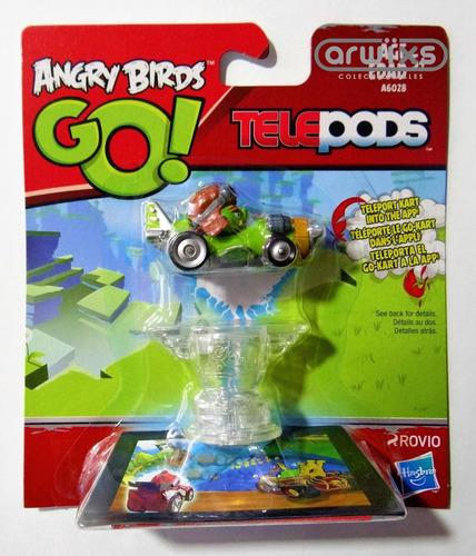 angry birds go! colección completa de 7 personajes telepods