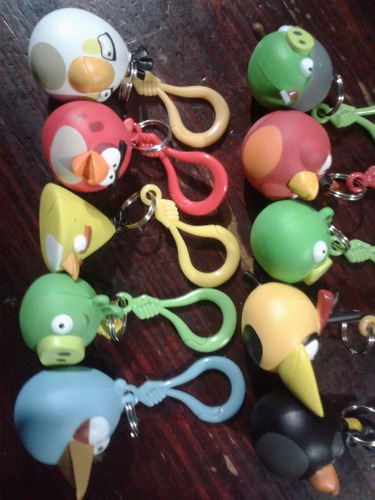 angry birds llavero coleccion completa 10 pzs