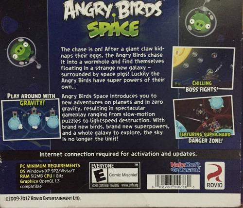 angry birds space juego pc cd-rom nuevo y original ingles