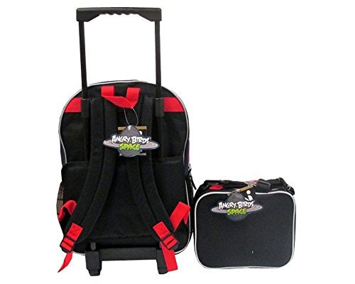 angry birds space large 16 rolling backpack y lunch bag box
