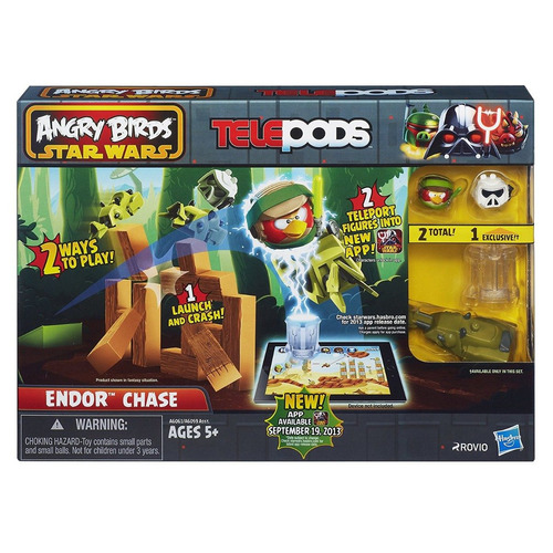 angry birds star wars telepods endor chase playset hasbro