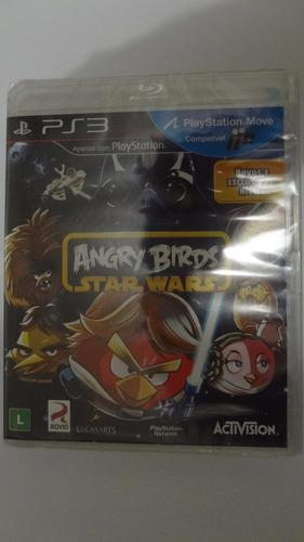 angry birds stars wars ps3 -  mídia física - novo e lacrado