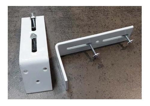 angulo mensula 10cm para doble riel europeo  muebles y cosas