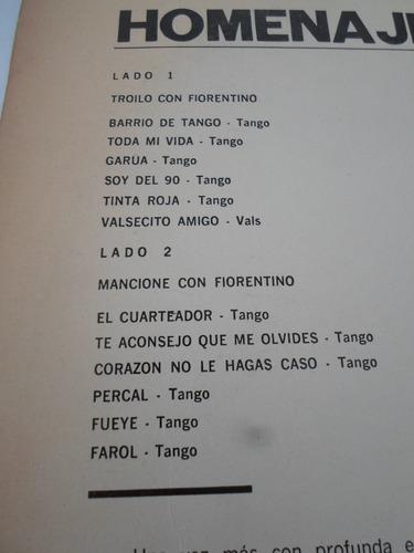anibal troilo - homenaje a fiorentino - vinilo argentino