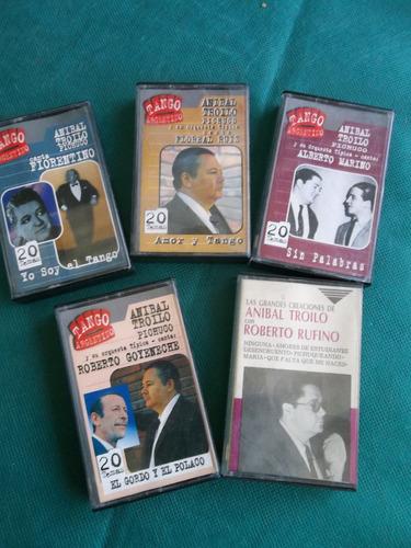 anibal troilo pichuco lote con 5 cassettes 94 canciones