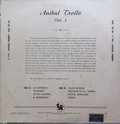 anibal troilo y su bandoneon  lp importado argentina 10 pol