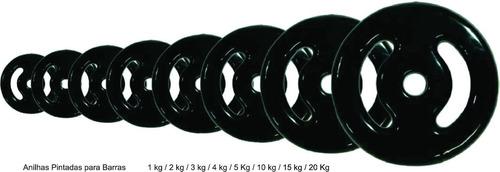 anilha para barra pintada 15kg un