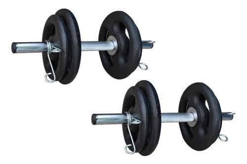 anilhas barras kit musculação