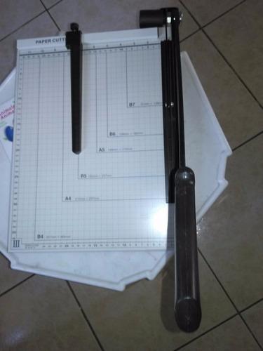 anilladora + guillotina + plastifcadora combo a4 oficina k7