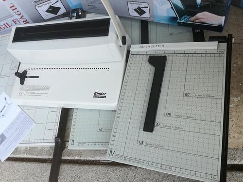anilladora + guillotina + plastificadora a4 oficina bazar
