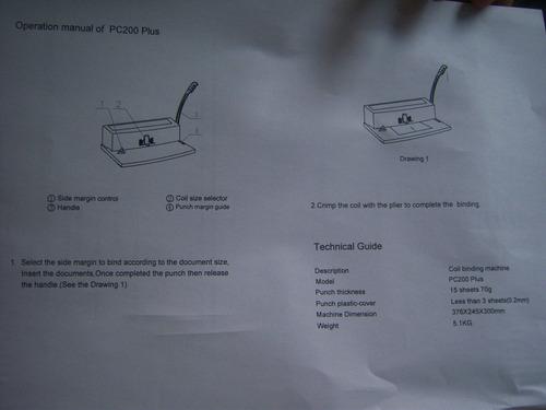 anilladora perforadora espiraladora combo gratis oferta free