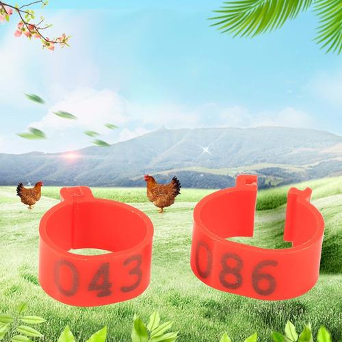 anillas para identificar gallinas , numeradas x100 - 16mm