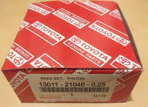 anillo 0.10 = 0.25 toyota yaris 1.3 1999 - 2009 2nz original