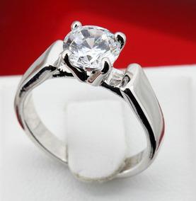 97bb82f9ddc9 Anillo 14 K Oro Rosa Compromiso Y Cristal Swarovski Certif.