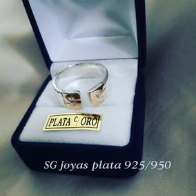 3cf59f593e54 Anillo Iniciales Oro Y Plata - Joyas y Bijouterie en Mercado Libre Argentina