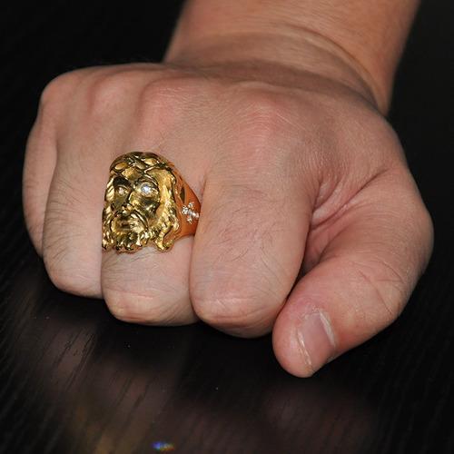 anillo acero inoxidable cz jesus religioso católico hombre