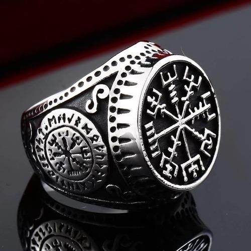anillo acero inoxidable viking berserker guerrero hombre