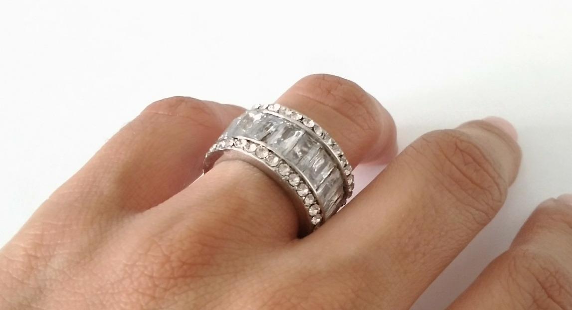 bastante agradable 98f56 6fb85 Anillo Acero Mujer Dama Compromiso Piedra Argolla Sortija