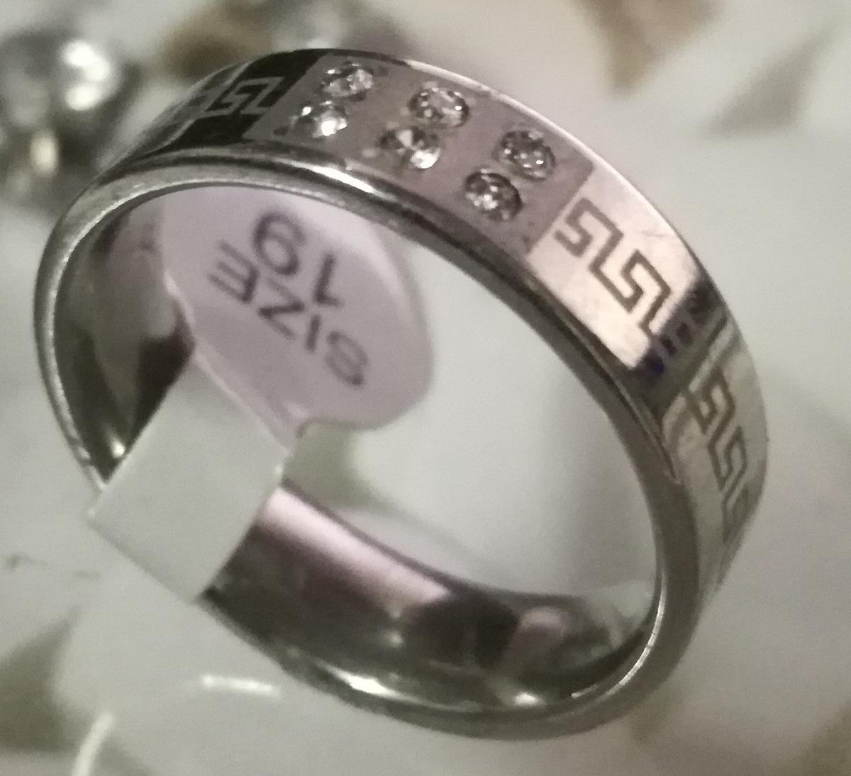 2d0f557e7c2a anillo acero quirúrgico 316l piedras centrales y guarda t19. Cargando zoom.