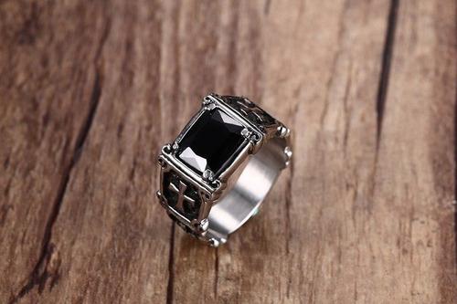 anillo acero zirconia