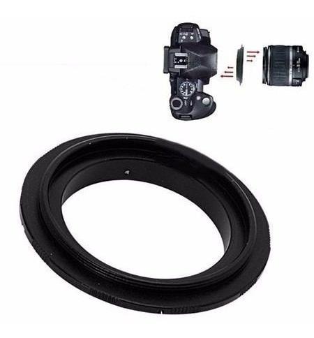anillo adaptador 55mm reversible lente sony alplha minolta m