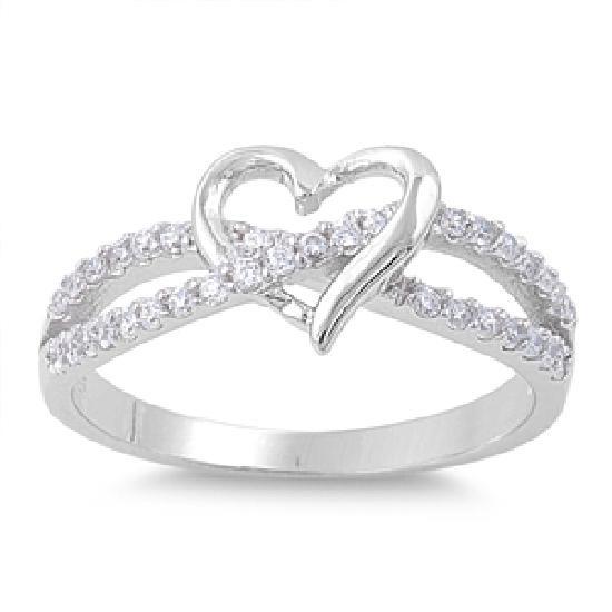 4207222395e6 Anillo Amor Infinito Corazón Diamantes Oro 10k Compromiso ...