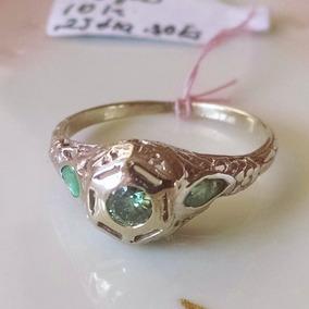 ea07d172e057 Anillo Antiguo Con Diamante Azul Talla 7 Oro Blanco 14k