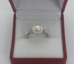 c820f5828d0d Anillo En Oro Blanco De 18k Con Perla Negra Y Diamantes en Mercado Libre  Argentina