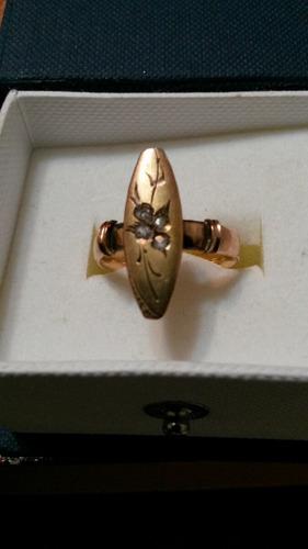 anillo antiquísimo con diamantes