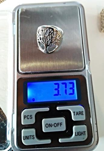 anillo árbol de la vida, plata.925; taxco de alarcón