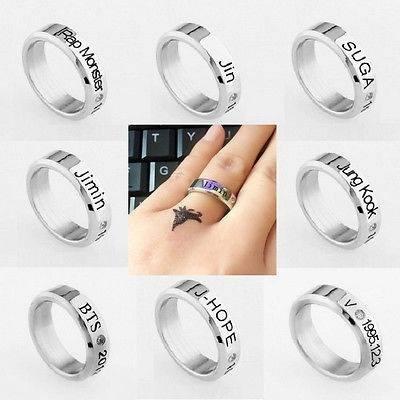 anillo argolla bts k-pop coreanos joya