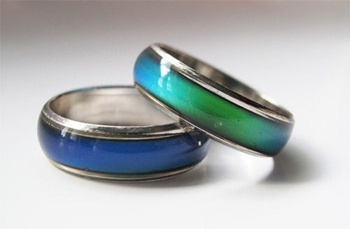 anillo argolla cambio de animo humor de acero inoxidable