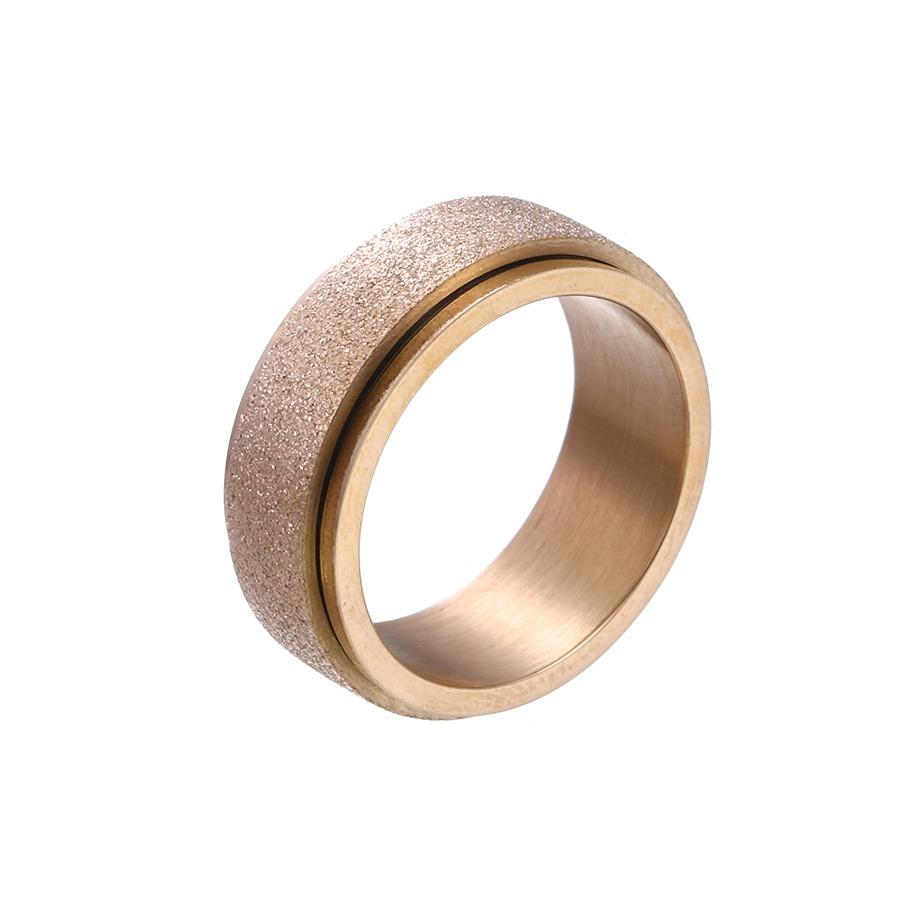 538262d7ace2 anillo argolla giratoria oro rosa 14k laminado 8mm de grosor. Cargando zoom.