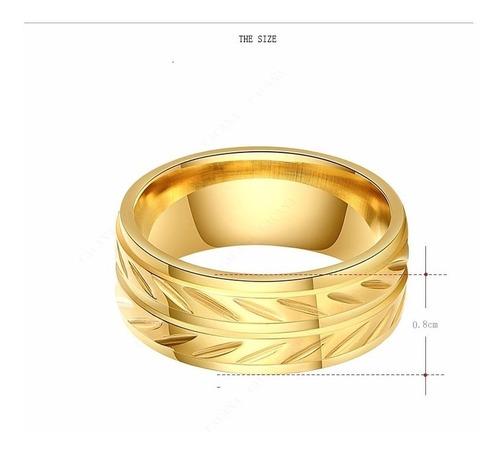 anillo argolla sortija mujer acero inoxidable joyeria moda