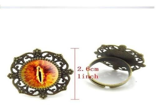 anillo argolla sortija señor de los anillos vintage ojo