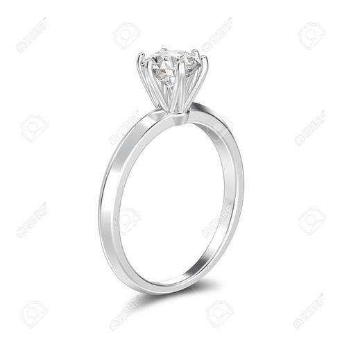 anillo aro compromiso plata 950