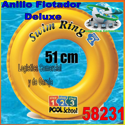 anillo aro flotador inflable 51 cm piscina 58231 intex