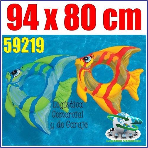 anillo aro flotador inflable pez / niños 59219 94x80cm intex