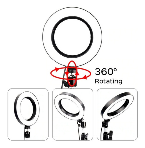 anillo aro luz led selfie fotografía 26 cm trípode ajustable
