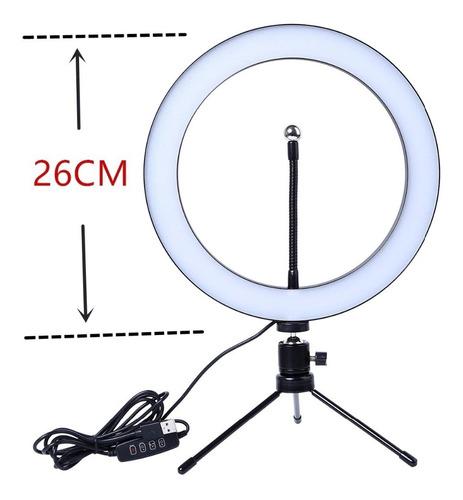 anillo aro luz led selfie fotografía 26 cm trípode pequeño
